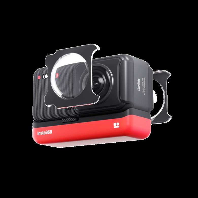 Kamera sportowa z osłoną obiektywu