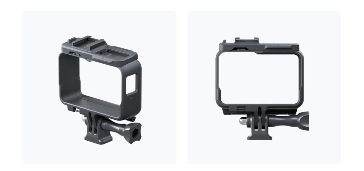 Ramka montażowa z zimną stopką przeznaczona do kamery sportowej.