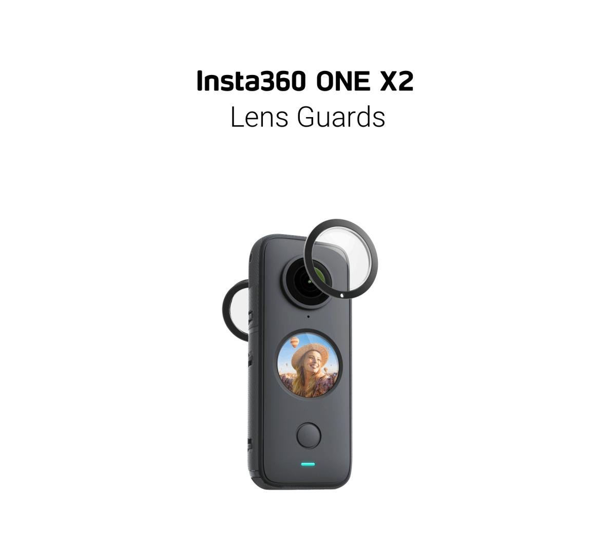 Kamera sportowa oraz osłony obiektywów.