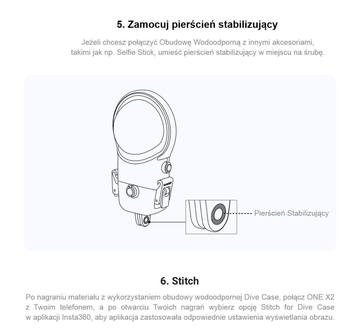 Instrukcja zakładania obudowy wodoodpornej dla kamery